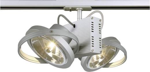 Niedervolt-Schienensystem-Leuchte 1phasig G53 100 W Halogen SLV TEC 2 143522 Silber-Grau