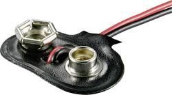 Connecteur clip pression 1x 6LR61 (9 V) Beltrona 9V-T-Clip raccord par bouton-poussoir (L x l x h) 26 x 13 x 8 mm
