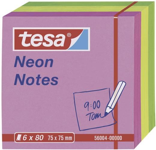 tesa® Neon Notes 6 x 80 Blatt (LxB) 75 x 75 mm