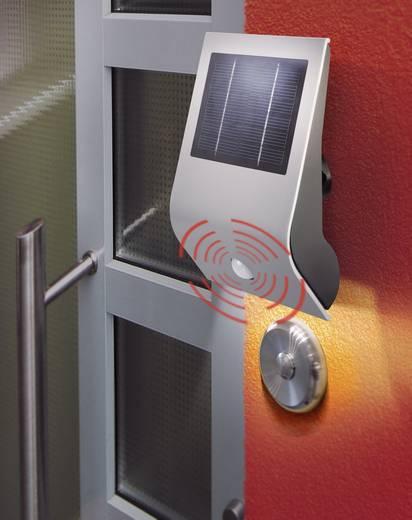Solar-Außenwandleuchte mit Bewegungsmelder Kalt-Weiß Esotec 102420 Flexi Light Silber