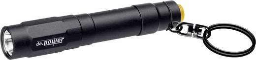 LED Mini-Taschenlampe mit Schlüsselanhänger de.power Lampe porte-clés batteriebetrieben 38 g Schwarz