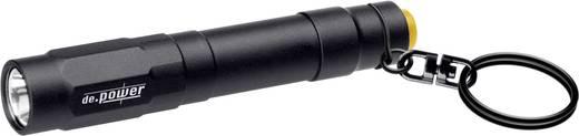 LED Mini-Taschenlampe mit Schlüsselanhänger de.power Schlüsselanhängerleuchte batteriebetrieben 38 g Schwarz