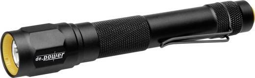 LED Taschenlampe de.power 2 AA-Cell batteriebetrieben 135 g Schwarz
