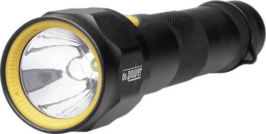 LED Taschenlampe de.power 2 C-Cell batteriebetrieben 352 g Schwarz