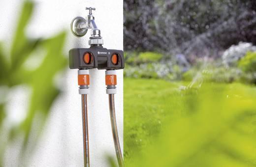 """2-Wege-Verteiler Steckkupplung, 30,3 mm (1"""") IG, 24,2 mm (3/4"""") IG mit Regulierventil GARDENA 8193-20"""