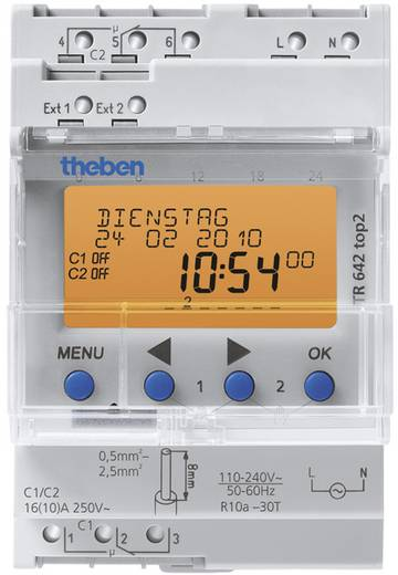 Hutschienen-Zeitschaltuhr Theben 6420100