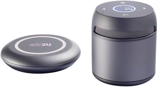 Aiptek AIR2U Musik Speaker E15 platingrau Bluetooth® Lautsprecher Grau