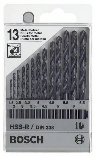 HSS Metall-Spiralbohrer-Set 13teilig Bosch Accessories 1609200201 rollgewalzt Zylinderschaft 1 Set
