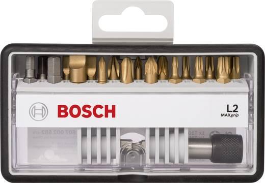 Bit-Set 19teilig Bosch Accessories Robust Line 2607002582 Schlitz, Kreuzschlitz Phillips, Kreuzschlitz Pozidriv, Innen-S