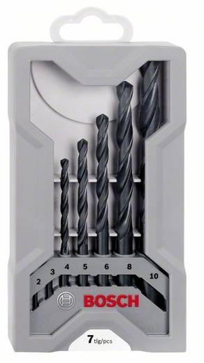 HSS Metall-Spiralbohrer-Set 7teilig Bosch Accessories 2607017036 rollgewalzt DIN 338 Zylinderschaft 1 Set