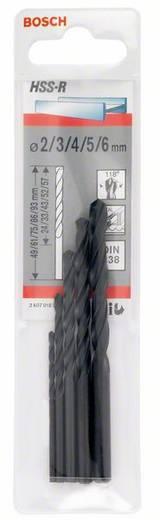 HSS Metall-Spiralbohrer-Set 5teilig Bosch Accessories 2607018351 rollgewalzt DIN 338 Zylinderschaft 1 Set