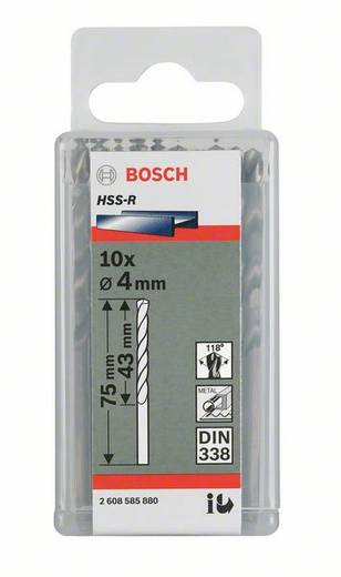 HSS Metall-Spiralbohrer 1 mm Bosch 2607018400 Gesamtlänge 34 mm rollgewalzt DIN 338 Zylinderschaft 10 St.