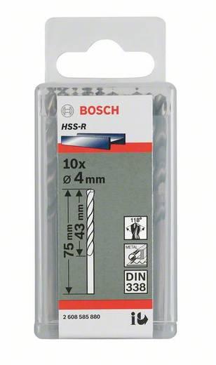 HSS Metall-Spiralbohrer 4 mm Bosch Accessories 2607018415 Gesamtlänge 75 mm rollgewalzt DIN 338 Zylinderschaft 10 St.