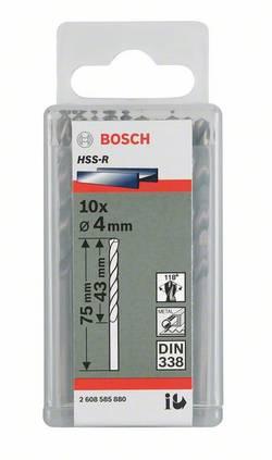 Kovový spirálový vrták Bosch Accessories 2608596569, 4.4 mm, 80 mm, N/A, HSS, 10 ks