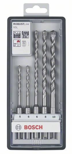 Set de forets pour marteau-perforateur 5 pièces SDS-Plus 5 mm, 6 mm, 6 mm, 8 mm, 10 mm Bosch Accessories 2608585073 1