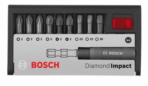 Schrauberbit-Set Diamond Impact (gemischt), 10-teilig, 25mm, PH/PZ/T
