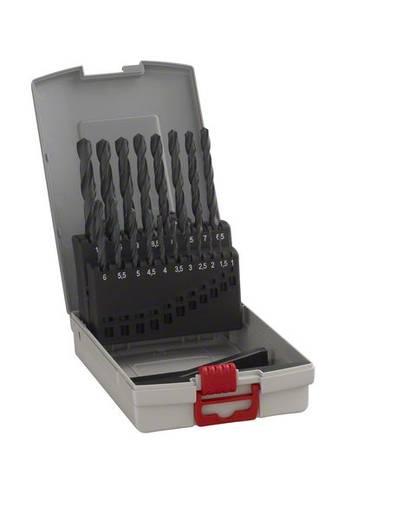 HSS Metall-Spiralbohrer-Set 19teilig Bosch Accessories 2608587012 rollgewalzt DIN 338 Zylinderschaft 1 Set