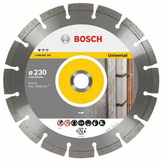 Diamanttrennscheibe Professional for Universal, 115 x 22,23 x 1,6 x 10 mm Bosch Accessories 2608602191 Durchmesser 115 m