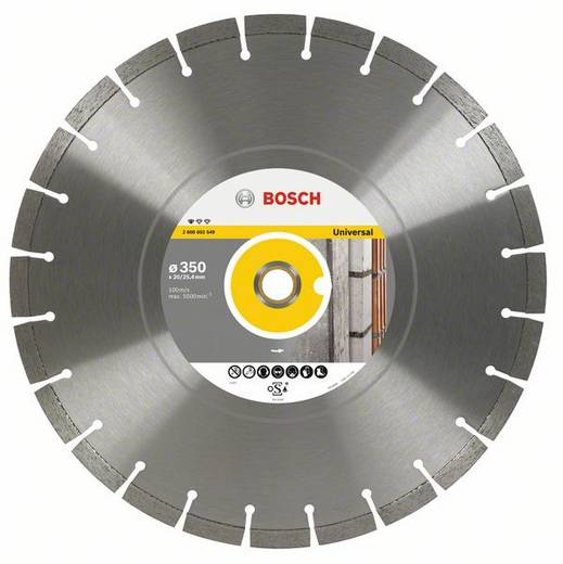 Diamanttrennscheibe Professional for Universal, 400 x 20,00+25,40 x 3,2 x 10 mm Bosch Accessories 2608602550 Durchmesser