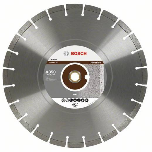 Diamanttrennscheibe Expert for Abrasive, 450 x 25,40 x 3,6 x 12 mm Bosch Accessories 2608602614 Durchmesser 450 mm 1 S