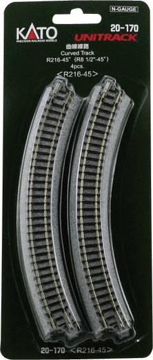 N Kato Unitrack 7078112 Gebogenes Gleis 45 ° 216 mm