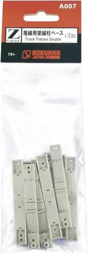Z Rokuhan Gleis (mit Bettung) 7297406 Oberleitungsmast-Halter, 1gleisig 40 mm