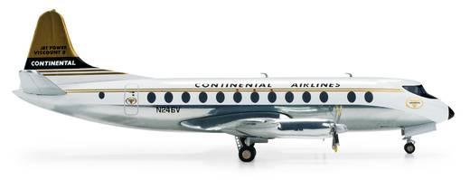 Luftfahrzeug 1:200 Herpa Continental Airlines Vickers Viscount 800 554398