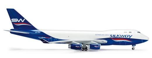 Luftfahrzeug 1:200 Herpa Silk Way Airlines Boeing 747-400F 554497