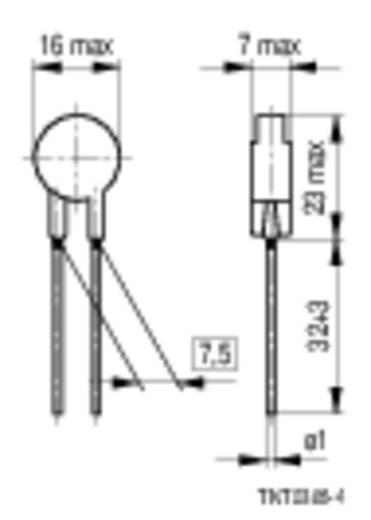 Heißleiter S238 10 Ω Epcos B57238S100M 1 St.
