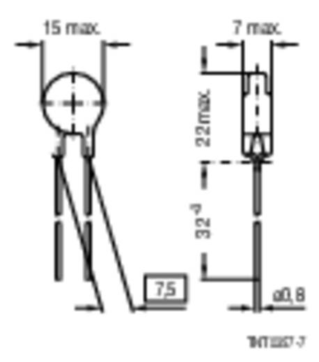 Heißleiter S237 1 Ω Epcos B57237-S109-M 1 St.