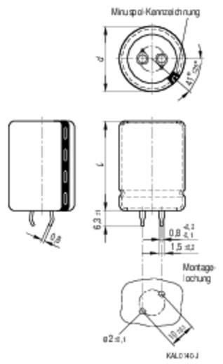 Elektrolyt-Kondensator SnapIn 10 mm 47 µF 20 % (Ø x H) 22 mm x 25 mm Epcos B43504-A9476-M 1 St.