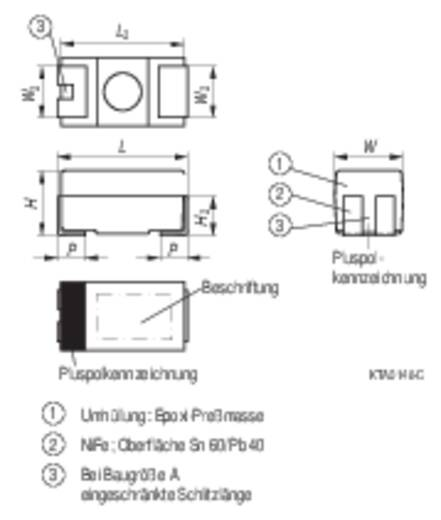 Tantal-Kondensator SMD 10 µF 16 V/DC 10 % (L x B x H) 6 x 3.2 x 2.5 mm Kemet T491C106K016ZT 1 St.