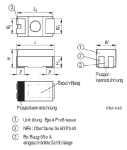 Tantal-Kondensator SMD 2.2 µF 10 V/DC 10 % (L x B x H) 3.2 x 1.6 x 1.6 mm Kemet T491A225K010ZT 1 St.