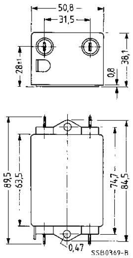 Entstörfilter flammhemmend 250 V/AC 3 A 4.7 mH (L x B x H) 89.5 x 50.8 x 38.1 mm Epcos B84113CB30 1 St.