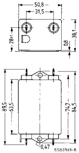 Entstörfilter flammhemmend 250 V/AC 3 A 270 mH (L x B x H) 89.5 x 50.8 x 38.1 mm Epcos B84115EB30 1 St.