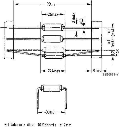 UKW-Drossel axial bedrahtet 100 µH 0.65 Ω 1 A Epcos B82111EC25 1 St.