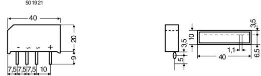 Brückengleichrichter Diotec B80C5000A SIL-4 160 V 5 A Einphasig