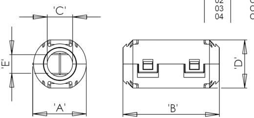 Ferrit-Ringkern geteilt 158 Ω Kabel-Ø (max.) 5 mm (Ø) 5 mm Richco RRC10-05-20-M 1 St.