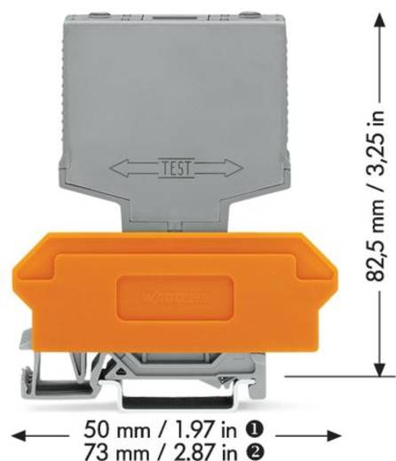 Schalterbaustein 1 St. WAGO 286-895 Passend für Serie: Wago Serie 280 Passend für Modell: Wago 280-609, Wago 280-619,