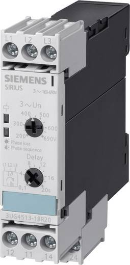 Überwachungsrelais 160 - 690 V/AC 2 Wechsler 1 St. Siemens 3UG4513-1BR20 Phasenfolge, Phasenausfall, Asymmetrie, Untersp