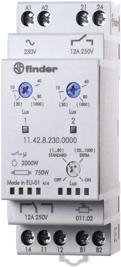Image of Dämmerungsschalter 1 St. Finder 11.42.8.230.0000 Betriebsspannung:230 V/AC Empfindlichkeit Licht: 1, 20 - 80, 1000 lx,