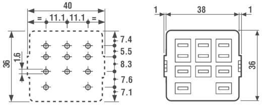 Relaissockel 1 St. Finder 92.13 Passend für Serie: Finder Serie 62 (L x B x H) 38 x 36 x 18.5 mm