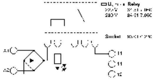 Relaisbaustein 1 St. 12 V/DC, 12 V/AC 6 A 1 Wechsler Finder 38.51.0.012.0060