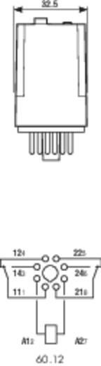 Steckrelais 12 V/DC 10 A 2 Wechsler Finder 60.12.9.012.0040 1 St.