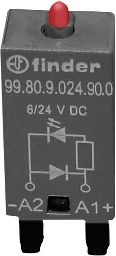 Steckmodul mit Freilaufdiode, mit LED 1 St. Finder 99.80.9.024.90.0 Leuchtfarbe: Rot Passend für Serie: Finder Serie 94,