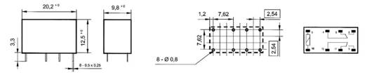 Printrelais 24 V/DC 1 A 2 Wechsler Takamisawa RY-24W-K 1 St.