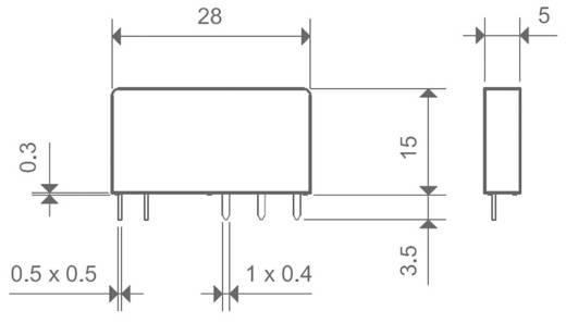 Printrelais 24 V/DC 6 A 1 Wechsler Finder 34.51.7.024.5010 1 St.