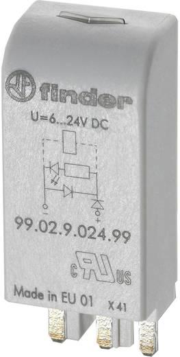 Steckmodul mit LED, mit Varistor 1 St. Finder 99.02.0.024.98 Passend für Serie: Finder Serie 90, Finder Serie 92, Finde