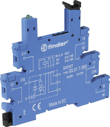 Relaissockel mit Haltebügel, mit LED, mit EMV-Entstörbeschaltung 1 St. Finder 93.01.7.024 Passend für Serie: Finder Seri