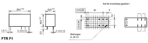 Printrelais 12 V/DC 5 A 2 Wechsler Takamisawa FTR-F1 CD 012 1 St.